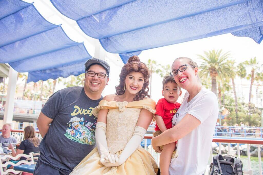The princess character lunch at Ariel's Grotto is a perfect meal at Disneyland with toddlers