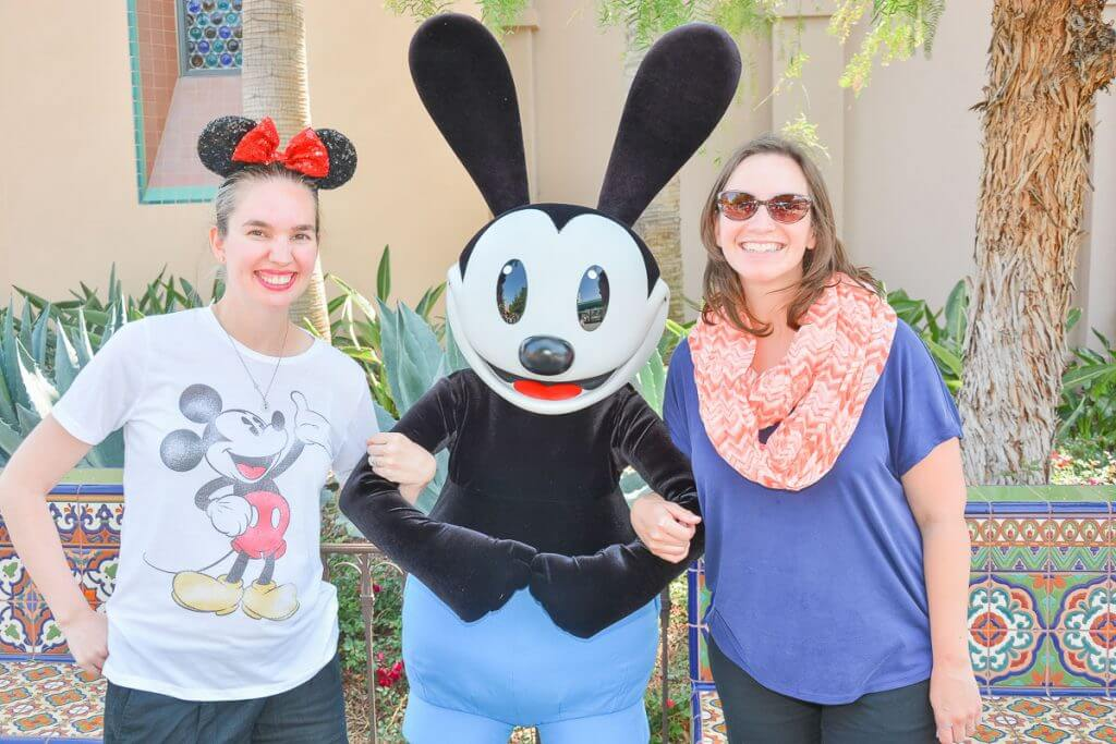 We met Oswald at Disney California Adventure while wandering Disneyland kid-free. It was one of the many Disneyland activities we did!