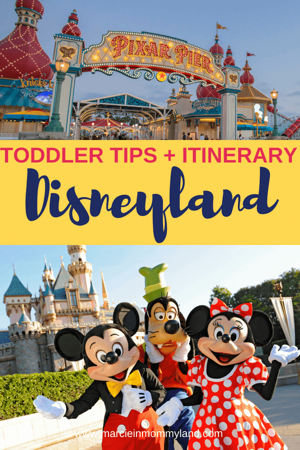 Heading to Disneyland with a toddler? Get my detailed itinerary for making the most of your Disneyland vacation with toddlers and preschoolers. Click to read more or pin to save for later. www.marcieinmommyland.com #disneyland #disney #disneysmmc #disneylandtips #disneylanditinerary