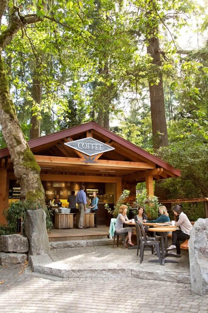 Photo of the Capilano Coffee Company at Capilano Suspension Bridge Park in North Vancouver, BC #capilanocoffeecompany #capilano #capilanosuspensionbridge #capilanosuspensionbridgepark #vancouver #vancouverbc #explorebc #britishcolumbia #bc #canada #pnw