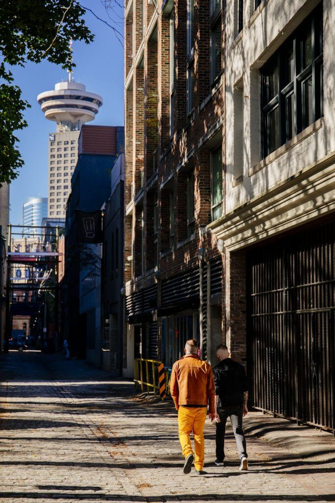Photo of Vancouver Lookout from Gastown Alley in Vancouver, British Columbia in Canada #vancouver #vancouverbc #vancouverlookout #gastown #gastownalley #britishcolumbia #explorebc #canada #harbourcentre