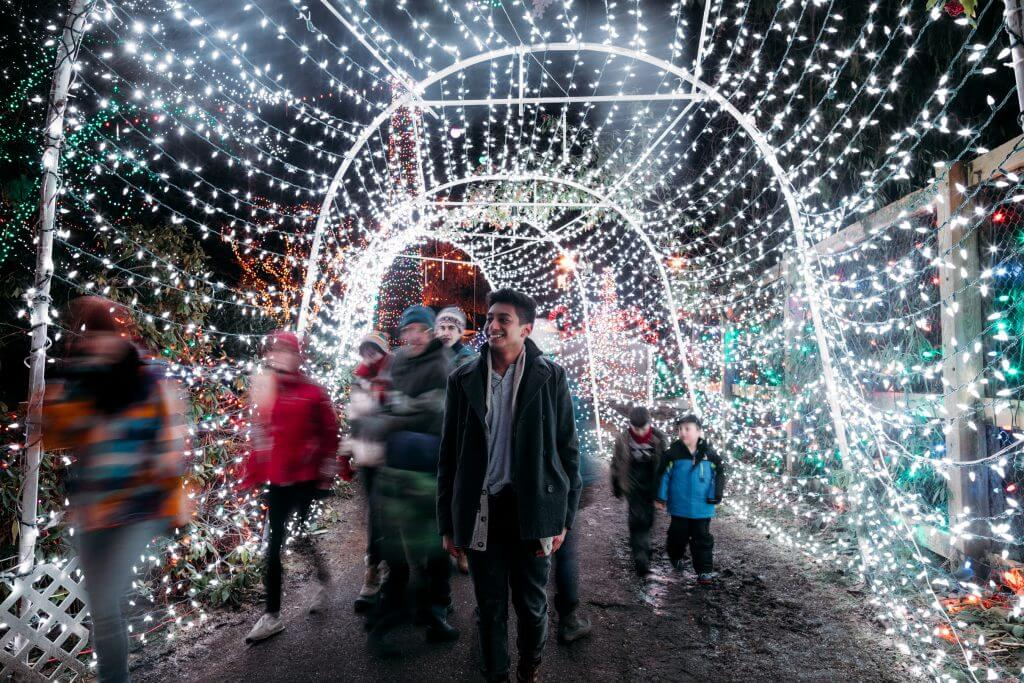Photo of Bright Nights at Stanley Park in Vancouver, BC Canada #vancouver #vancouverchristmas #vancouverholiday #bc #britishcolumbia #stanleypark #canada