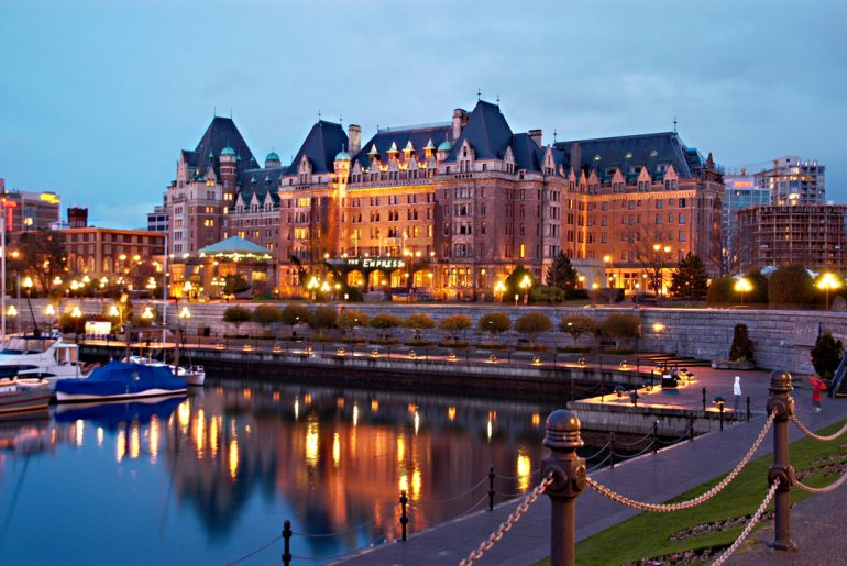 Photo of the Fairmont Empress Hotel in Victoria, BC, which is the best place to stay in Victoria, BC