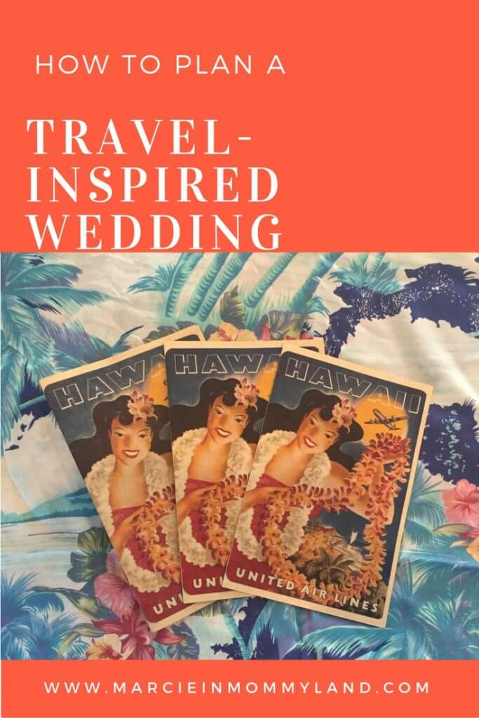 Travel inspired wedding