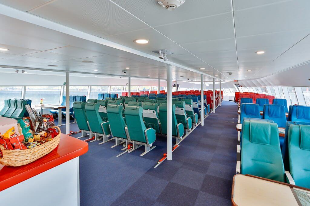 Photo of the interior of the ferry to Victoria, BC in Canada