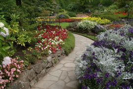 Photo of the Butchart Gardens in Victoria, BC Canada