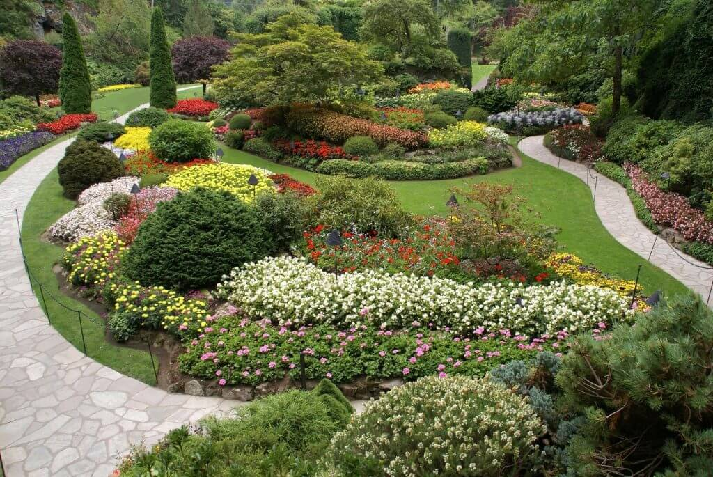 Sunken Garden at The Butchart Gardens in Victoria, BC