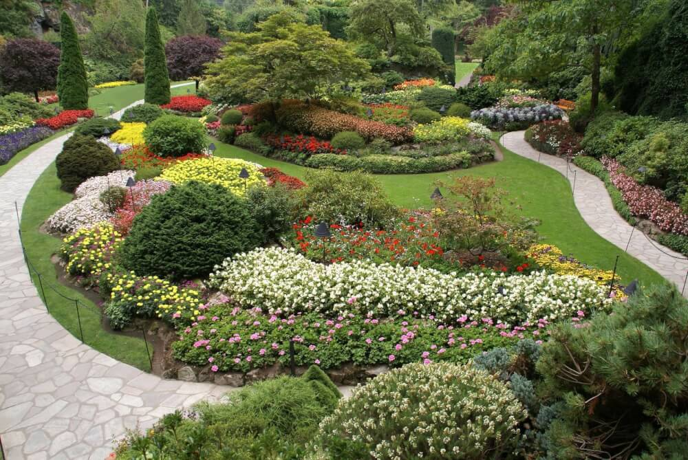 the butchart gardens is a top attraction in victoria  bc canada