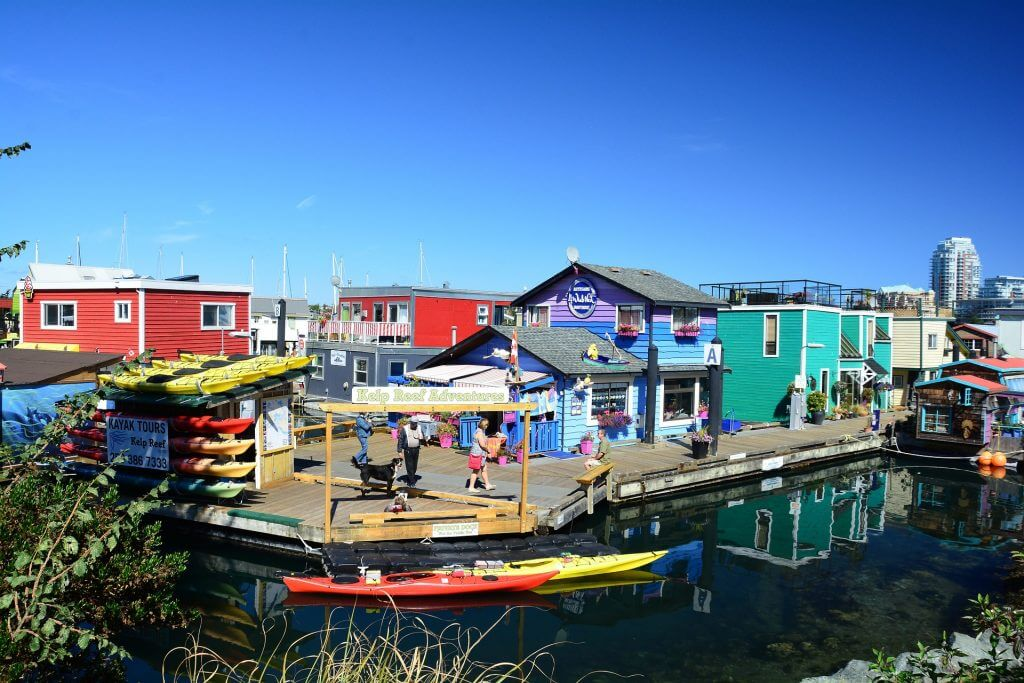Photo of Fisherman's Wharf near downtown Victoria, BC