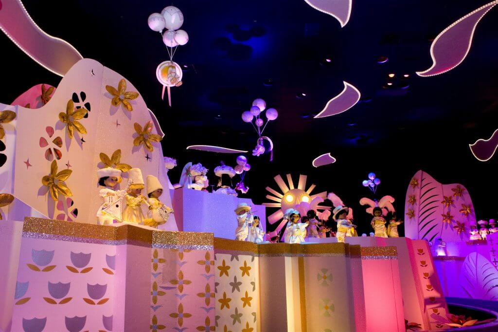 """it's a small world"" is one Disneyland best rides for toddlers at Disneyland"