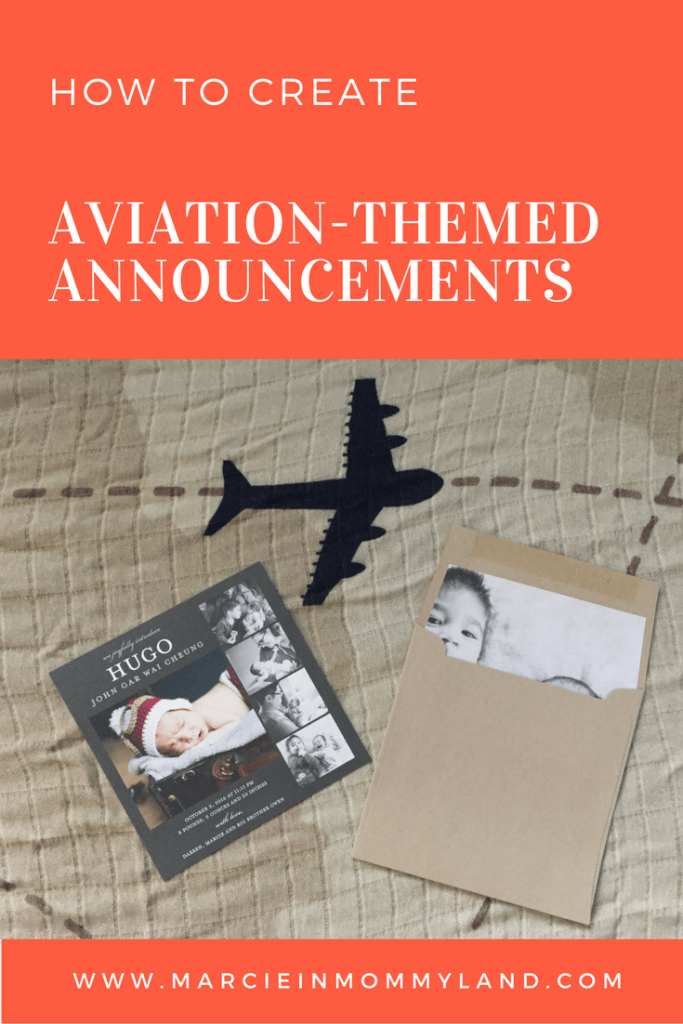Aviation Themed Birth Announcements