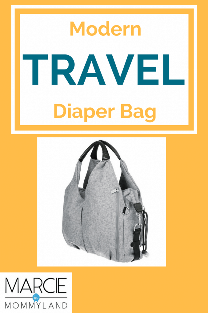 This modern diaper bag is the ultimate travel diaper bag for flying with babies and toddlers.