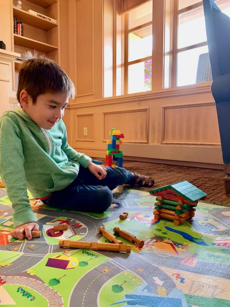 Semiahmoo Resort & Spa in Blaine, WA has a great game room that even has Lincoln Logs!