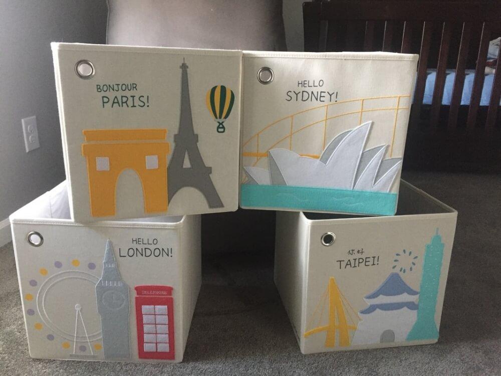 & Kaikai u0026 Ash Cityscape Toy Storage Cubes