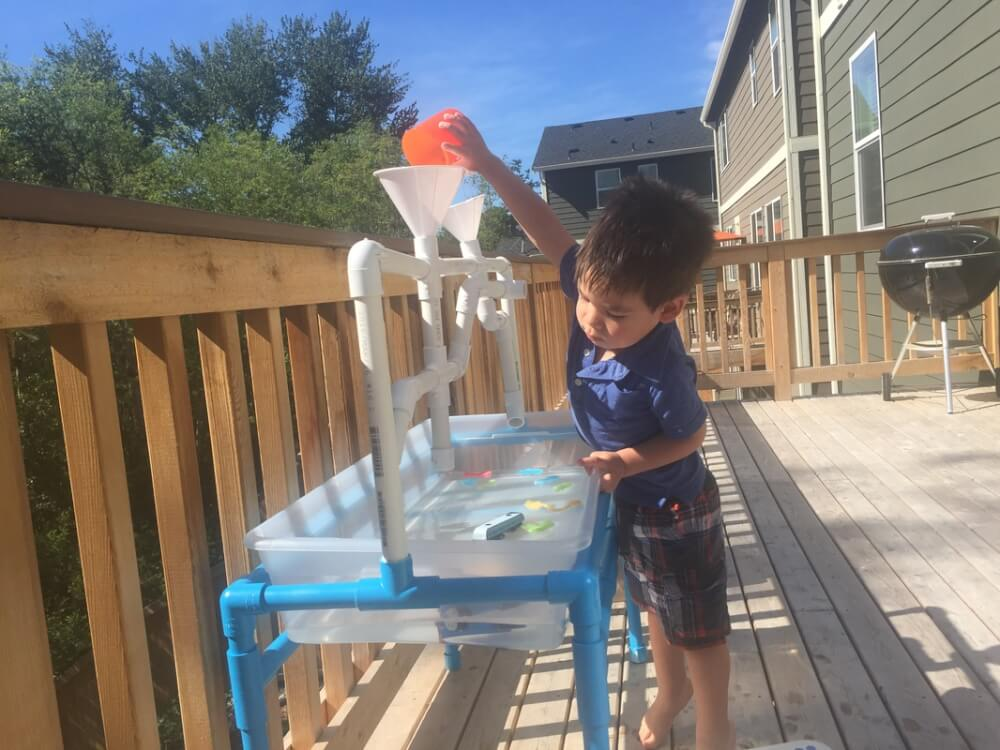 Making A Toddler Sand Water And Rice Table Out Of Pvc