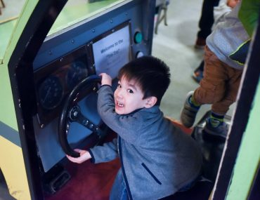 My 3-year-old loves vehicles and he enjoyed driving me in the Tro-Tro. Photo credit: Darren Cheung