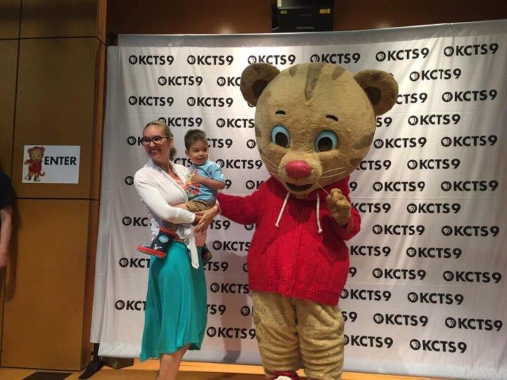Daniel Tiger at KCTS Kids Day at the Zoo