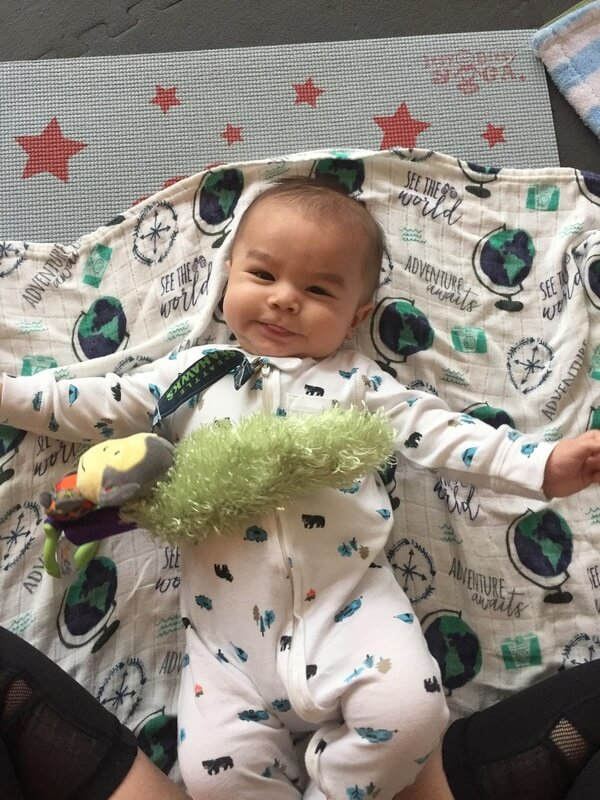 I use the Yoee Baby to entertain my son before Itsy Bitsy Yoga.