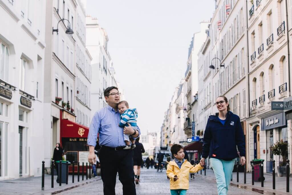 Capturing family photos through Flytographer is an unusual thing to do in Paris with kids.
