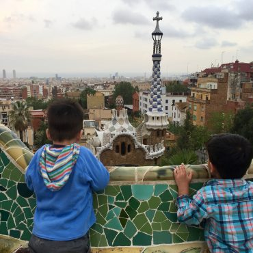 Barcelona's Park Guell with a Baby + Preschooler