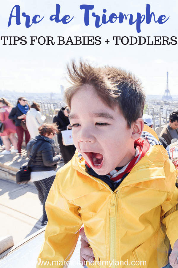 Heading to Paris with a baby or toddler? Find out my top tips for the Arc de Triomphe with kids #arcdetriomphe #paris #parisfrance #familytravel #parisattractions