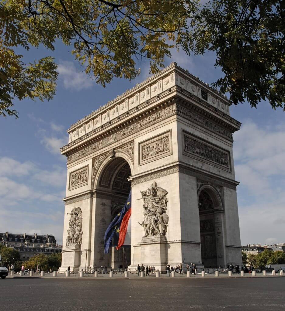 Photo of the Arc de Triomphe, which is a top kid-friendly attraction in Paris, France #arcdetriomphe #paris #pariswithkids #familytravel #parisattractions