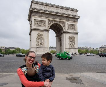 Exploring the Arc de Triomphe with a Baby + Preschooler