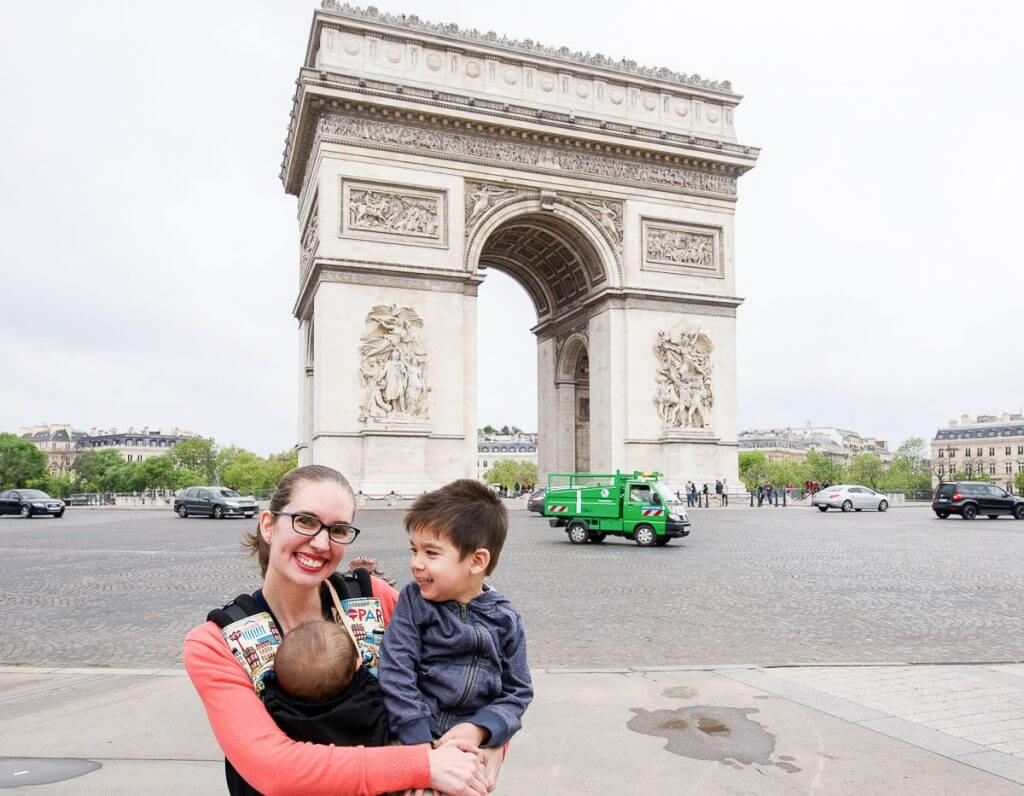 Photo across the street from the Arc de Triomphe, which is a top photo spot in Paris, France #parisphoto #parisphotospot #parisattraction #visitparis #pariswithkids