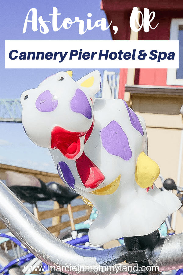 Free bicycles are one of the many perks at the Cannery Pier Hotel and Spa in Astoria, OR #cannerypierhotel #travelastoria #astoriaoregon #columbiariver #oregoncoast