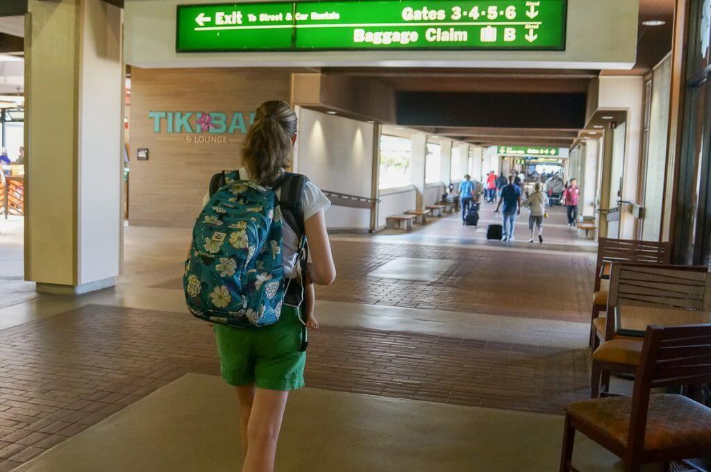 Da Kine backpack for airplane travel