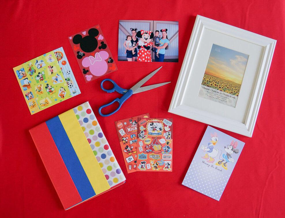 Disney photo frame collage