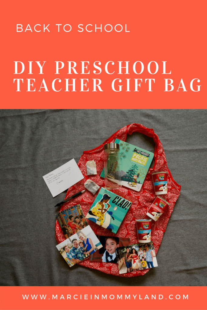 Create preschool teacher gift bag with Horizon organic yogurt