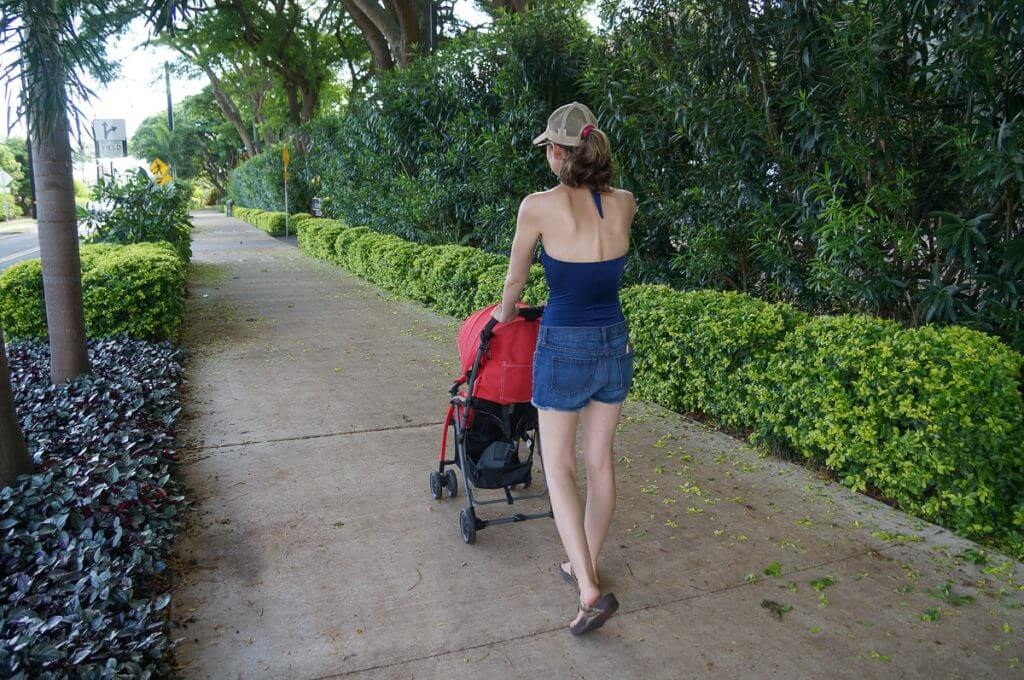I love how narrow the Pali Tre.9 travel stroller is!