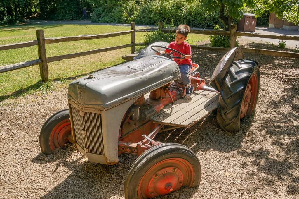 Tractor at Woodland Park Zoo