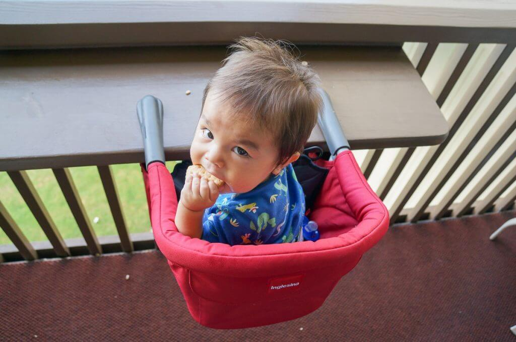 Inglesina travel high chair is one of the best foldable high chairs available. Click to see my Inglesina fast table chair reviews. #inglesina #highchair #portablehighchair #babyproducts #toddlerproducts #baby #familytravel.