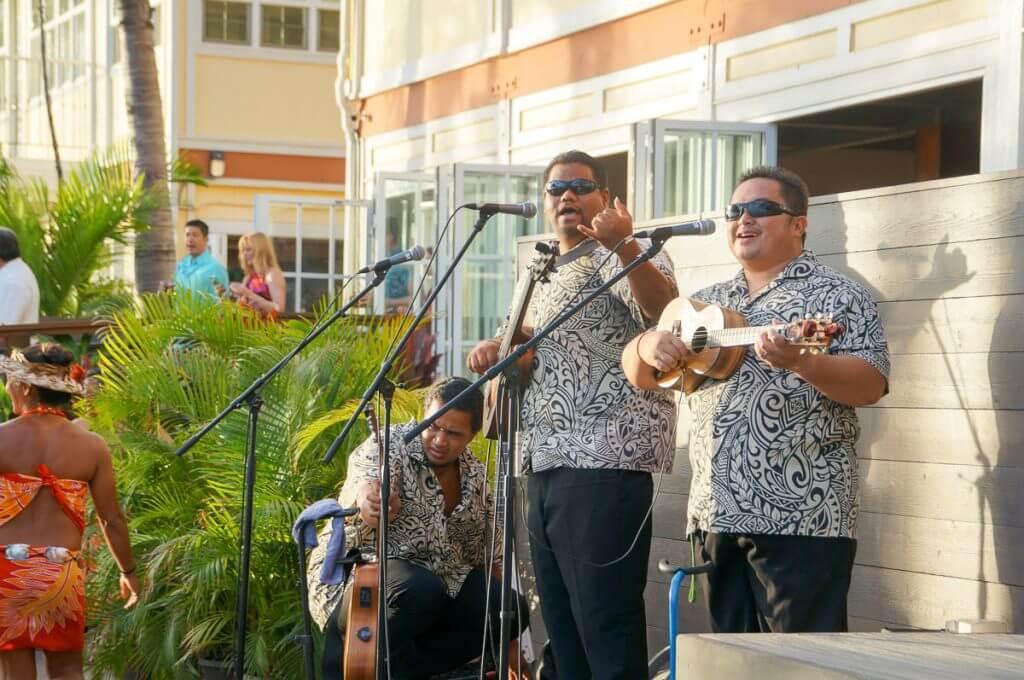 House band at Feast at Lele in Lahaina, Maui