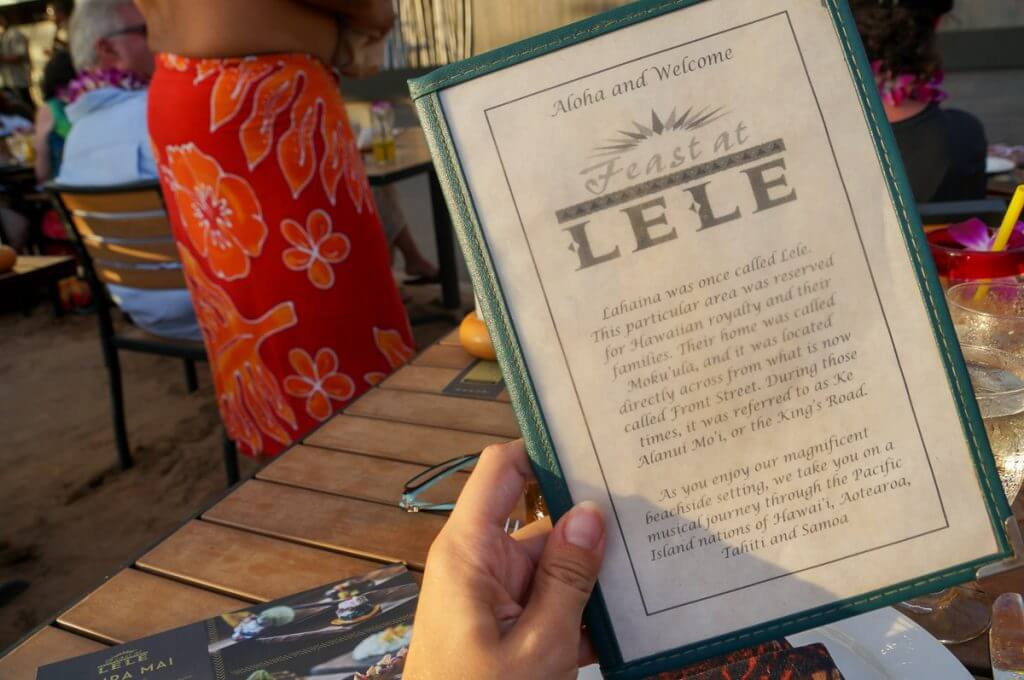 Thumbing through the menu at Feast at Lele was a fun way to get excited for the evening!