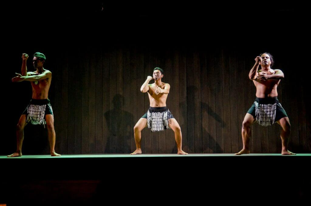 Maori haka performance at Feast at Lele