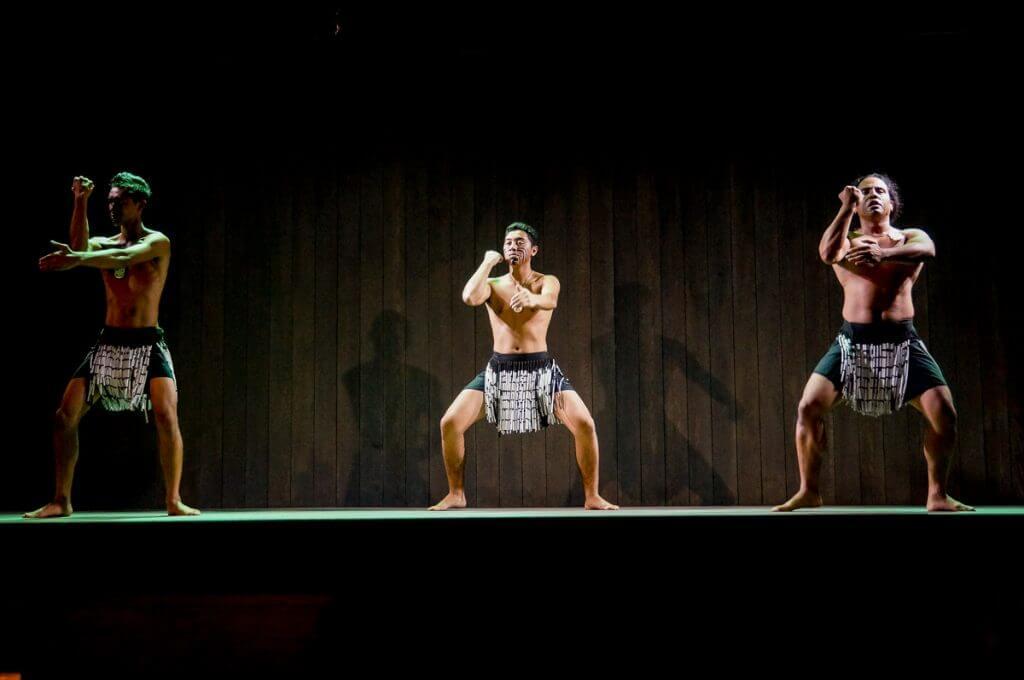 Maori haka performance at Feast at Lele