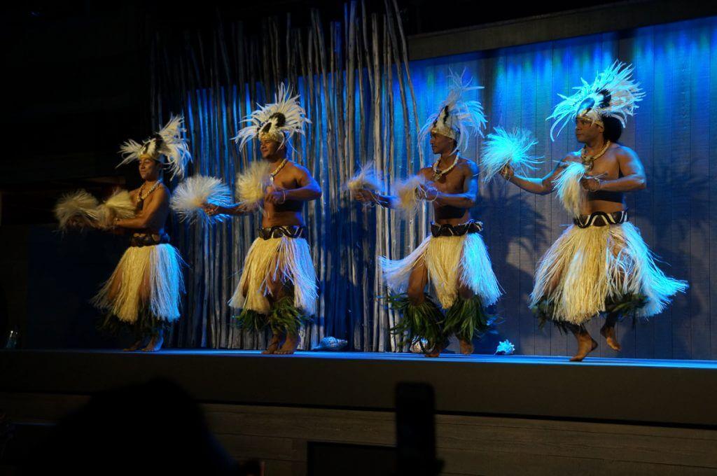 Men's Tahitian performance at Feast at Lele