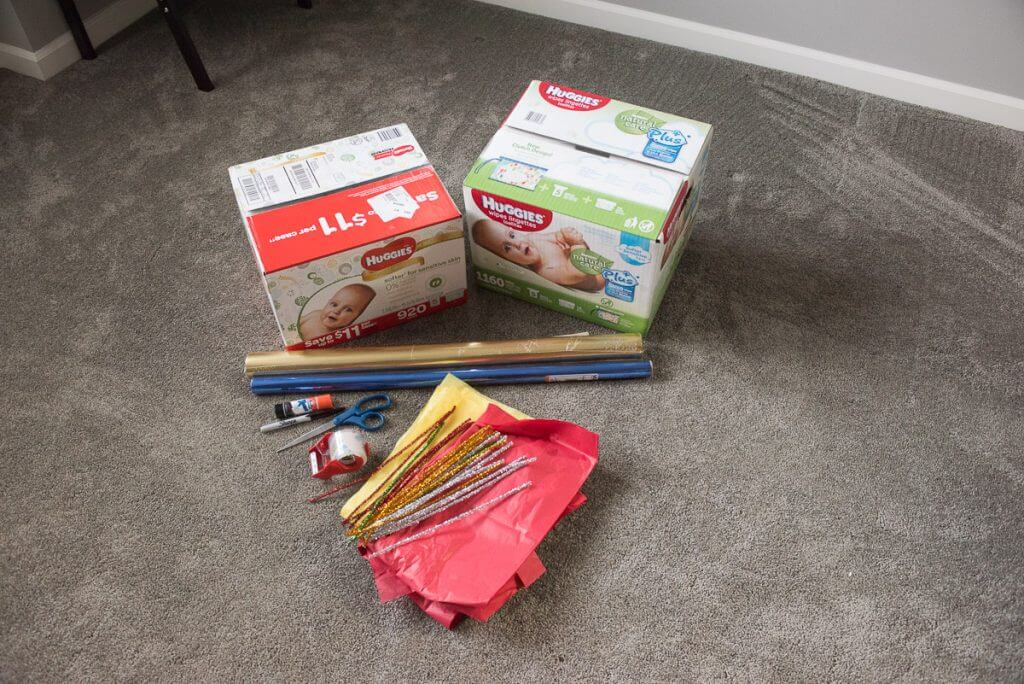 Huggies boxes from Sam's Club