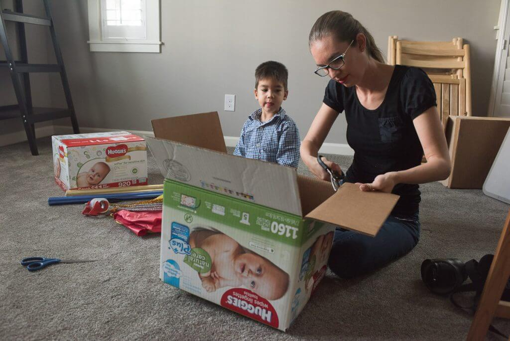 Creating a Rocket from Sam's Club Huggies Boxes
