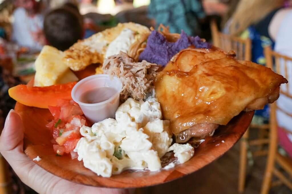Luau Kalamaku is one of the best luaus on Kauai and has so many Hawaiian food options.