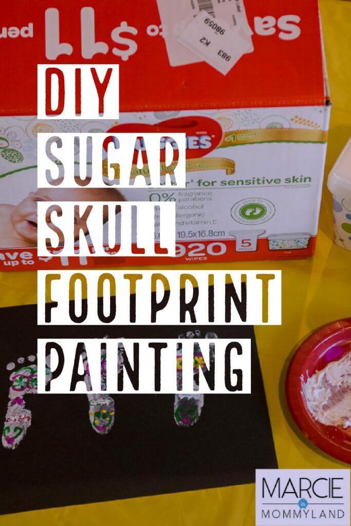 DIY Dia de los Muertos Sugar Skull Painting