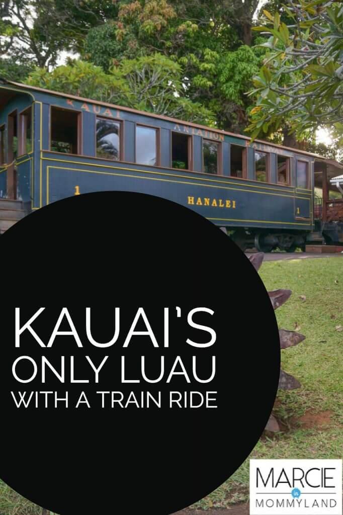 Kauai's Only Luau with a Train Ride is Luau Kalamaku in Lihue, Hawaii.