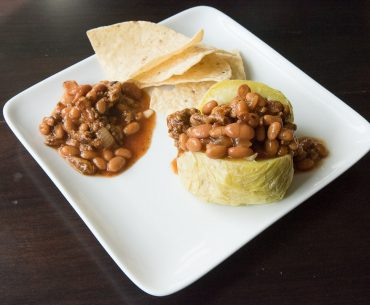 Baked beans with ground turkey
