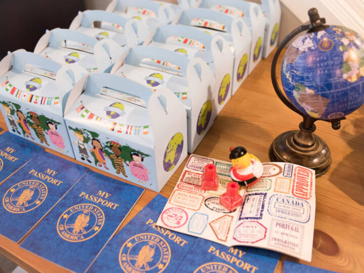Oriental Trading Company party supplies for an Around the World travel themed birthday party for kids #orientaltradingcompany #otc #partydecor #partysupplies #travelthemedparty #1stbirthday #firstbirthday #kidsparty #kidsbirthday