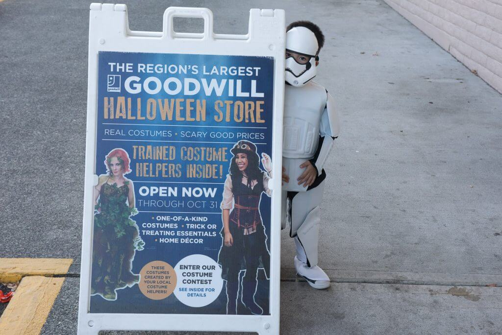 Did you know the largest Goodwill Halloween Store is in Spanaway, WA? Neither did I!