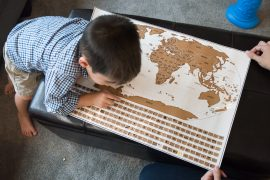 Landmass Travel Tracker Scratch Off Map