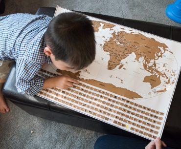 Landmass Travel Tracker Scratch Off Map
